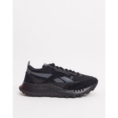 リーボック メンズ スニーカー シューズ Reebok Classic Legacy sneakers in triple black