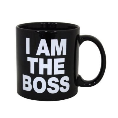 Island Dogs Giant I am The Boss Mug, Black by Island Dogs[並行輸入品]