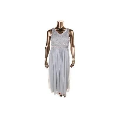 パトラ ドレス ワンピース Patra 7735 レディース シルバー Embellished Formal ドレス Gown Petites 14P BHFO