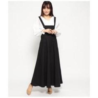 AULI(アウリィ)コットンリネンジャンパースカート【お取り寄せ商品】