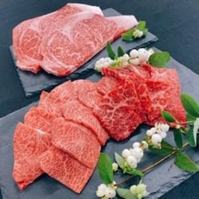 【尾花沢牛焼肉セット】尾花沢牛サーロインステーキ400g・尾花沢牛焼肉セット400g