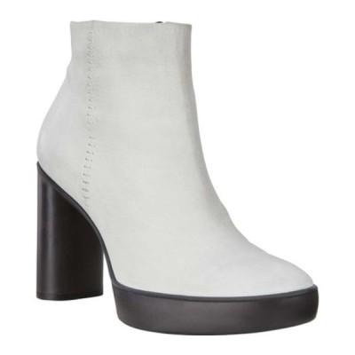エコー レディース ブーツ&レインブーツ シューズ Shape Sculpted Motion 75 Ankle Bootie Bright White Cow Leather