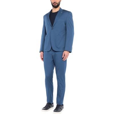BARBATI スーツ パステルブルー 48 コットン 97% / ポリウレタン 3% スーツ