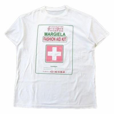 【中古】美品 19AW マルタンマルジェラ Martin Margiela 10 メゾンマルジェラ Maison Margiela Tシャツ 50 白 メンズ