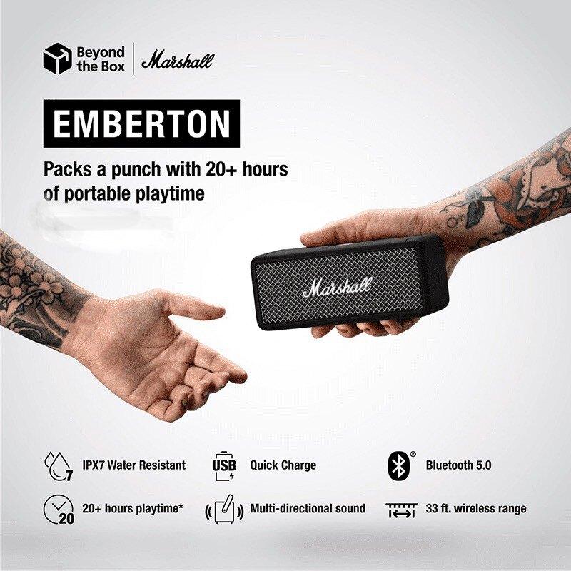 Marshall Emberton 攜帶式藍牙喇叭 防水 藍牙音響 無線喇叭 音箱 露營 戶外運動 登山