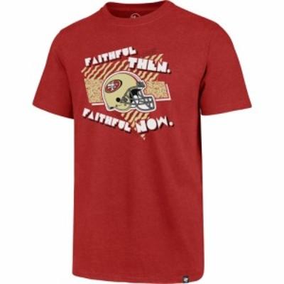 フォーティセブン 47 メンズ Tシャツ トップス  San Francisco 49ers Club Faithful Red T-Shirt
