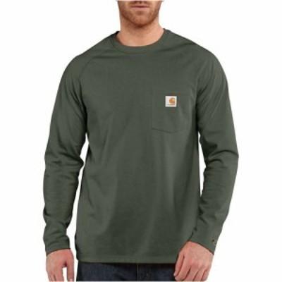 カーハート Carhartt メンズ 長袖Tシャツ トップス Force Cotton Delmont LS T-Shirt Moss