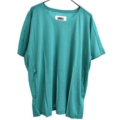 MM6 Maison Margiela (エムエムシックスメゾンマルジェラ) 14SS バックタック入り半袖Tシャツ グリーン S32GC0345