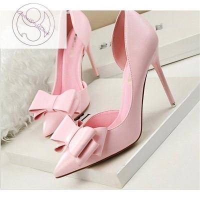 パンプス ピンヒール 結婚式 パーティ 大きいサイズ お呼ばれ ハイヒール 靴 シューズ ポインテッドトゥ 10.5cmヒール 多色 レディース パンプス 走れる