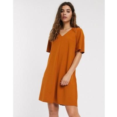 ジェイディーワイ JDY レディース ワンピース Vネック ワンピース・ドレス Kora short sleeve v neck swing dress