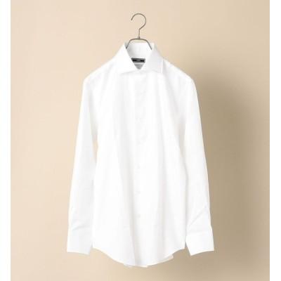 【シップス/SHIPS】 SD: CANCLINI社製生地 ワイド マイクロ へリン ソリッド シャツ