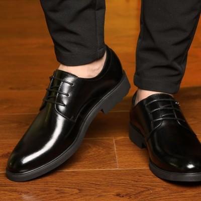 革靴 靴 レザー 紳士靴 ビジネスシューズ 通勤 フォーマル  メンズ  通気性 軽量 大きいサイズ 快適 歩きやすい