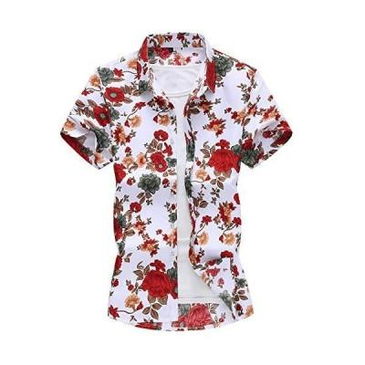 CEEN アロハシャツ 半袖 メンズ 花柄 大きいサイズ リゾート 和柄 カジュアル