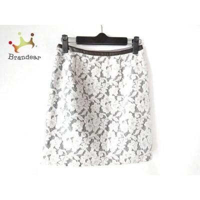 アプワイザーリッシェ Apuweiser-riche ミニスカート サイズ0 XS レディース グレー×白 花柄     スペシャル特価 20200621
