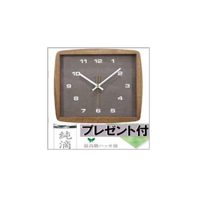 A160(送料無料)(la luz(ラ・ルース)フォルムクロック/BRブラウン(la-luzラルースclock))天然木roomyウォールクロック壁掛時計時計 掛け時計