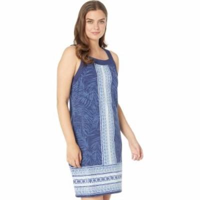 トミー バハマ Tommy Bahama レディース ワンピース ノースリーブ ワンピース・ドレス Kona Floral Stripe Dress Sleeveless Island Navy