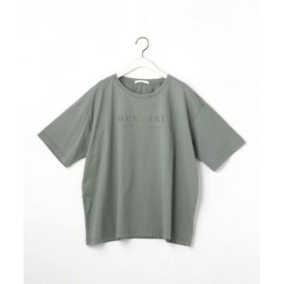 (Grand PARK/グランドパーク)ボカシロゴTシャツ/レディース 47モスグリーン