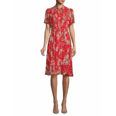 ナネットナネットレポー レディース ワンピース Pleated Floral Knee-Length Dress
