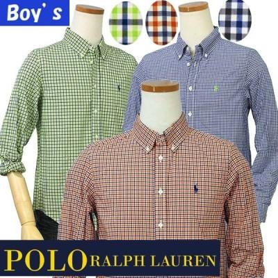 ポロラルフローレン POLO Ralph Lauren 長袖 シャツ カジュアルシャツ ボタンダウンシャツ メンズ レディース チェック柄 ボーイズサイズ #323573618