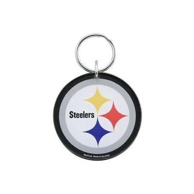 フットボール NFL アメリカ USA 全米 メジャー ウィンクラフト Pittsburgh Steelers High Definition Logo Keychain