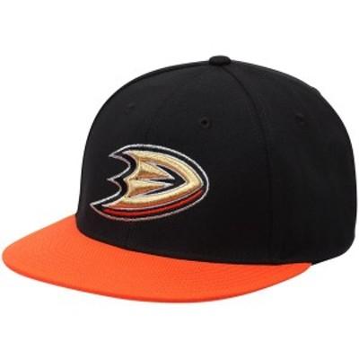アディダス メンズ 帽子 アクセサリー Anaheim Ducks adidas Basic Two-Tone Fitted Hat Black