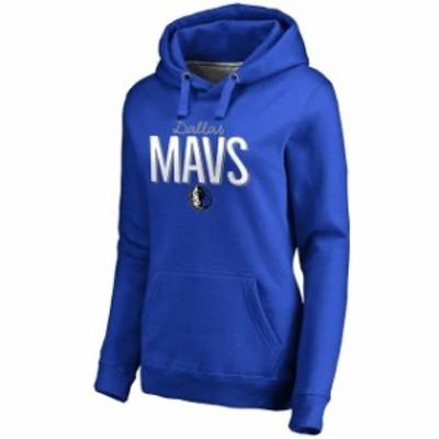 Fanatics Branded ファナティクス ブランド スポーツ用品  Dallas Mavericks Womens Royal Nostalgia Pullover Hoodie