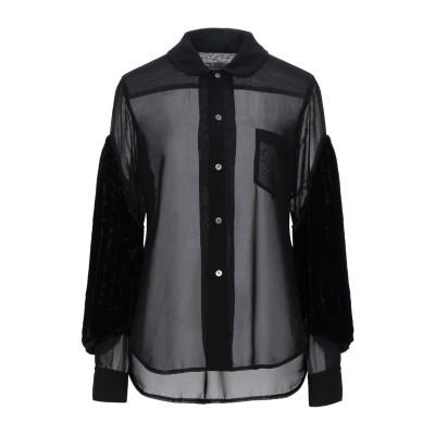 コム デ ギャルソン・シャツ COMME des GARÇONS シャツ ブラック L ポリエステル 100% / レーヨン / シルク シャツ