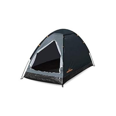 ハック 組立式 1人用 ドームテント 一人用 テント 組み立て簡単 コンパクト 収納袋付き アウトドア キャンプ ブラック 本体:w95×d195×h