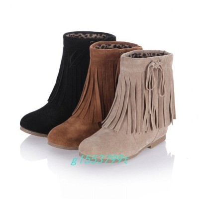 秋冬人気ショートブーツレディースローヒール厚底婦人靴痛くない大きいサイズ靴無地カジュアルシューズ美脚歩きやすい着痩せ効果