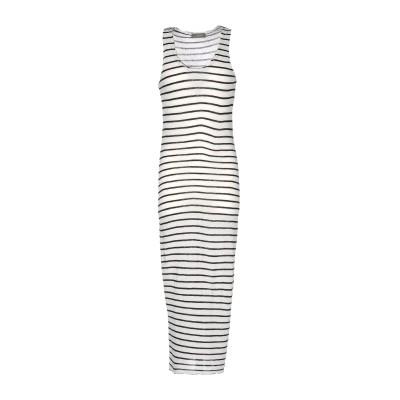 SOALLURE 7分丈ワンピース・ドレス ホワイト M レーヨン 70% / ウール 30% 7分丈ワンピース・ドレス