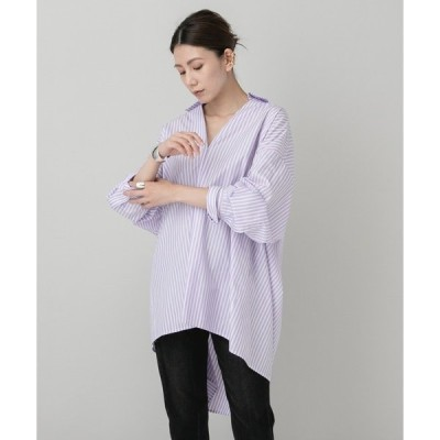 シャツ ブラウス Curensology(カレンソロジー)/【ERIKA CAVALLINI】ストライプシャツ