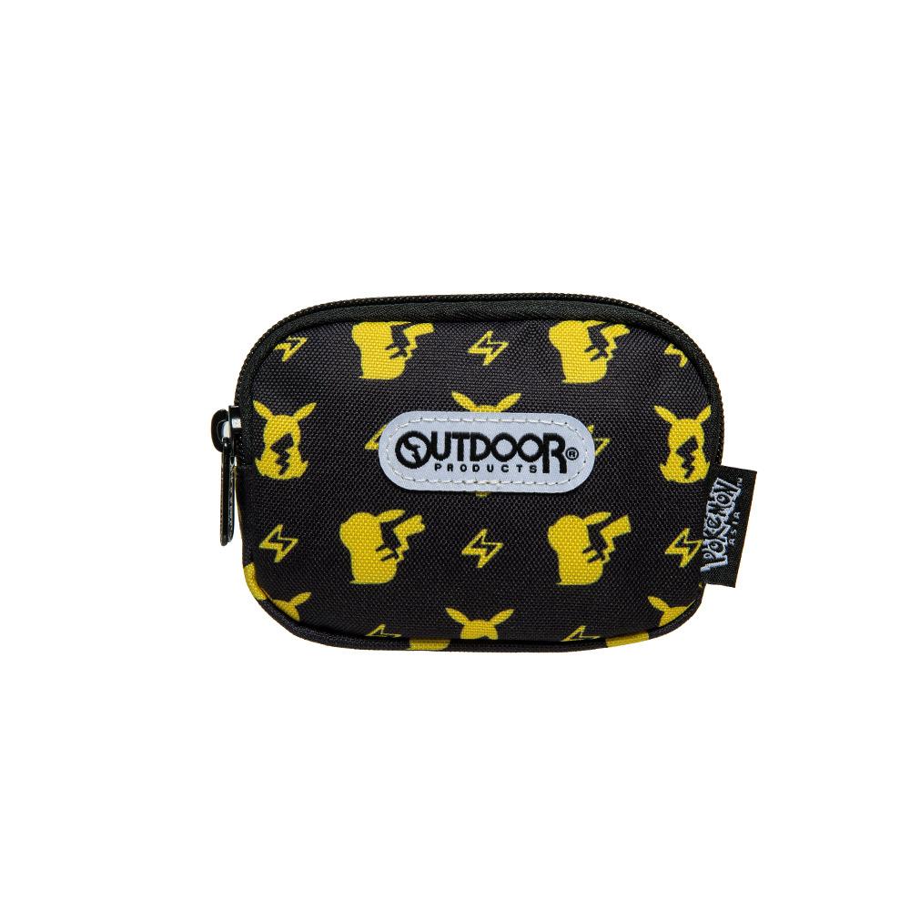 【OUTDOOR】Pokemon聯名款潮黑皮卡丘雙拉鍊零錢包-黑色 ODGO20B11BK