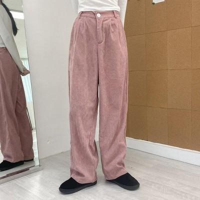 VANILLAMILK レディース パンツ Formy corduroy wide long trousers