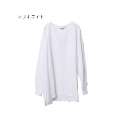 (Rejoule/リジュール)【2021新作商品 】ポケット付オーバーサイズ長袖Tシャツ/レディース オフホワイト