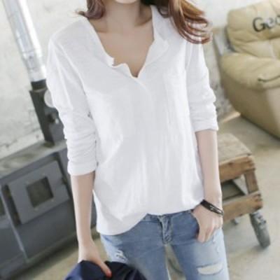 レディース ブラウス ロングシャツ 長袖シャツ トップス 白 黒 S M L XL 2XL 大きいサイズ 送料無料