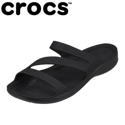 クロックス crocs 203998 レディース | サンダル | 軽量 軽い | SWIFTWATER SANDAL | ブラック×ブラック