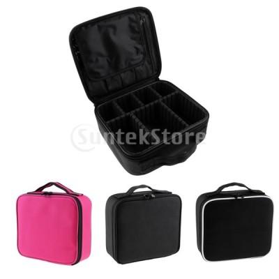 メイクアップオーガナイザーブラシホルダー化粧品収納ジッパーハンドバッグボックス