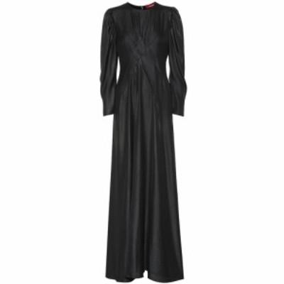 シエス マルジャン Sies Marjan レディース パーティードレス ワンピース・ドレス Virginia hammered satin maxi dress Black