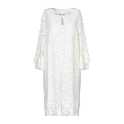 ブルーガール ブルマリン BLUGIRL BLUMARINE ミニワンピース&ドレス ホワイト 48 レーヨン 46% / コットン 39% / ナ