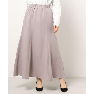 スカート ロングソフトマーメイドスカート*