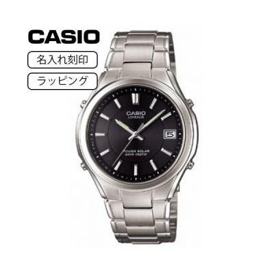 CASIO カシオ 腕時計 メンズ リニエージ LINEAGE LIW-120DJ-1A シルバー ブラック 【名入れ刻印】