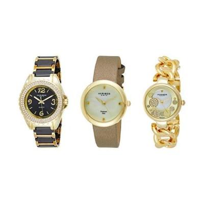 腕時計 アクリボスXXIV レディース AK766YG_Gold-Standard Akribos Women's 3 Watch Gift Set - Crystal
