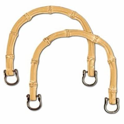 バンブー ハンドル 竹 素材 持ち手 取っ手 手さげ オリジナル バッグ ハンドメイド 側面穴 タイプ (焼き入生成)