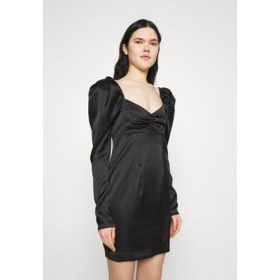 エヌ エー ケイ ディ ワンピース レディース トップス PUFFY SLEEVE DETAIL DRESS - Cocktail dress / Party dress - black