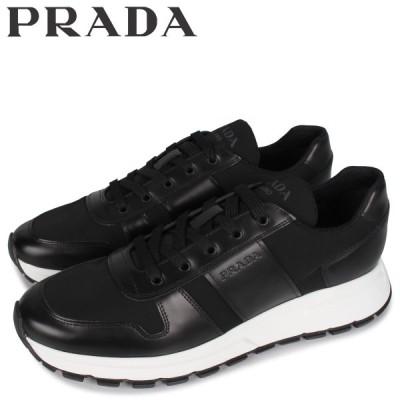 PRADA プラダ スニーカー メンズ PRAX 01 SNEAKER NYLON ブラック 黒 4E3463