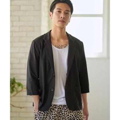 【CAMBIO(カンビオ)】6分袖カットジャケット
