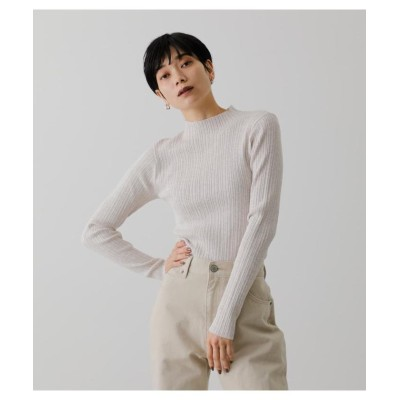 (AZUL by moussy/アズールバイマウジー)SNOWY HIGH NECK KNIT TOPS/レディース IVOY3