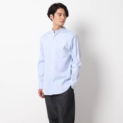 ザ ショップ ティーケーメンズ THE SHOP TK(Men) ピンオックスバンドカラーシャツ (サックス)
