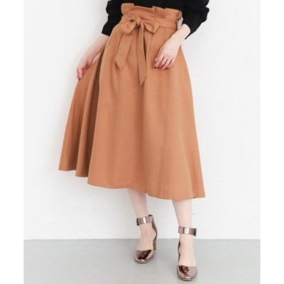 スカート ウエストリボンフレアスカート∴