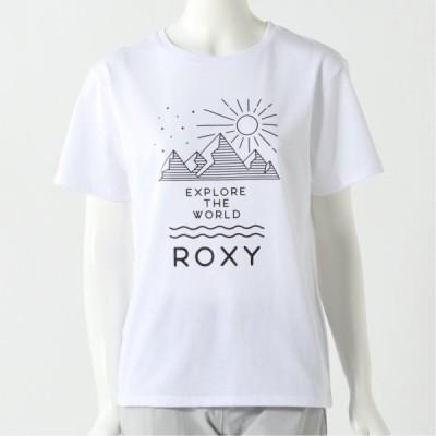 ロキシー レディース 半袖CANYONプリントTシャツ ホワイト S M L